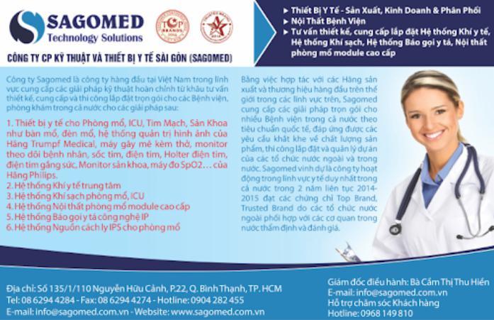 sagomed - công ty thiết bị y tế Sài Gòn